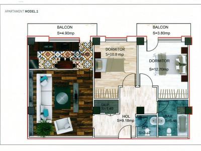 SUPERB! Apartament 3 camere decomandat ! POZITIE LA STRADA !