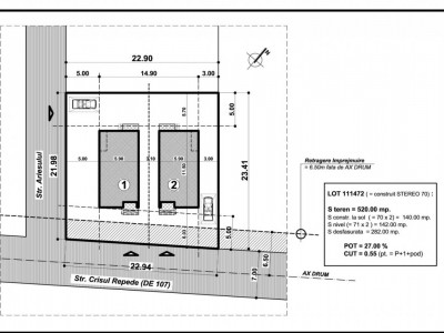 2 case individuale in constructie cu toate utilitatile