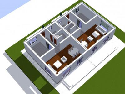 Casa si teren generos cu acces in soseaua Alexandriei