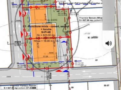 TEREN CONSTRUCTIE BLOC, S+P+6, canalizare, apa, curent, pe teren, Baneasa