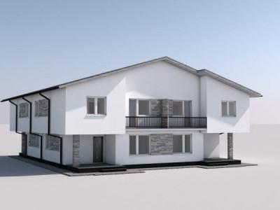 Casa tip cub, 4 camere, P+1E+POD de depozitare-finisaje la alegere