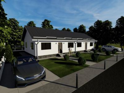 Duplex pe parter cu pod locuibil-3 camere si 250 mp curte-Magurele,Varteju