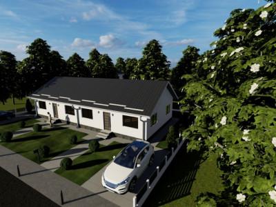 Duplex 3 camere, parter cu pod locuibil si 250 mp curte-Magurele,Varteju