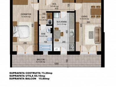 Apartament 2 camere decomandat ETAJ 4 ULTIMELE 2 UNITATI
