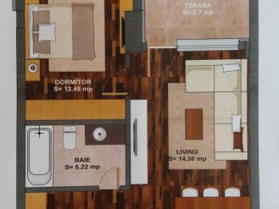 Apartament decomandat 2 camere, Magurele