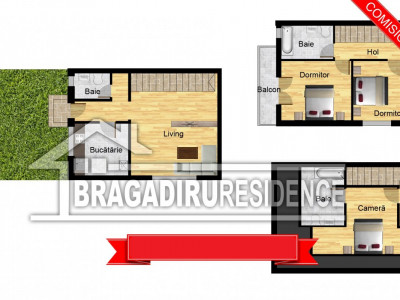 Casa 4 camere - 3 bai - mansarda locuibila!