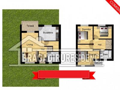 Casa 4 camere la cheie. Bragadiru / Independentei